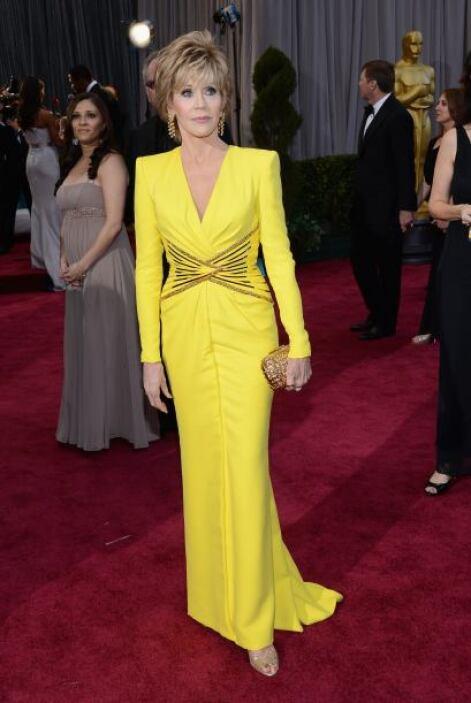 Vaya que sí brilló Jane Fonda, pues con ese colorcito era imposible no v...