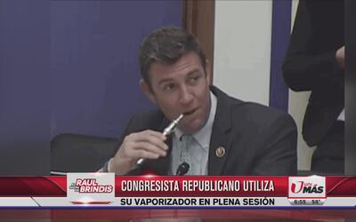 Congresista Republicano utiliza su vaporizador en plena sesión