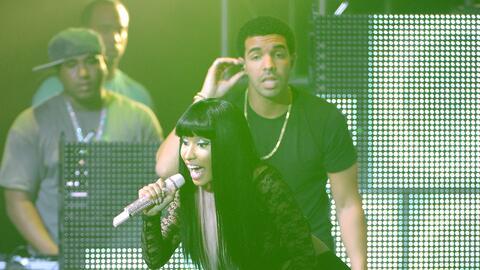 NEW YORK, NY - AUGUST 14: Nicki Minaj and Drake perform at Pepsi Present...