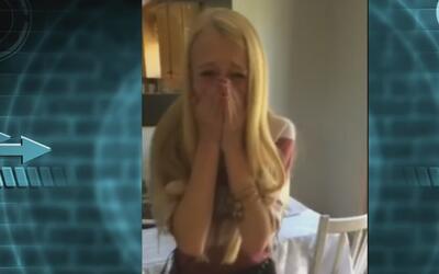 La reacción de una adolescente al enterarse que encontraron un donante d...