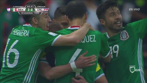 Néstor Araujo anotó el 2-0 con un gran remate de cabeza