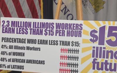 Legisladores de Illinois proponen aumentar el salario mínimo a 15 dólare...