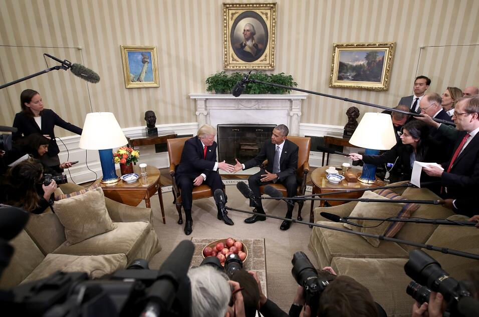 Oval Office Obama Trump