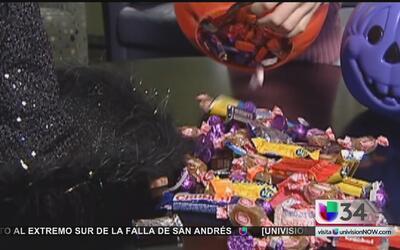 Precaución con los dulces de Halloween