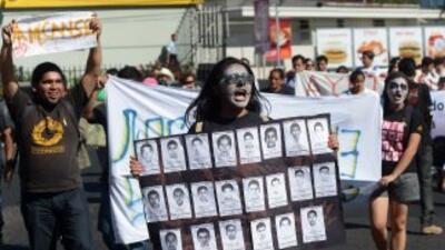 Los desaparecidos de Ayotzinapa.