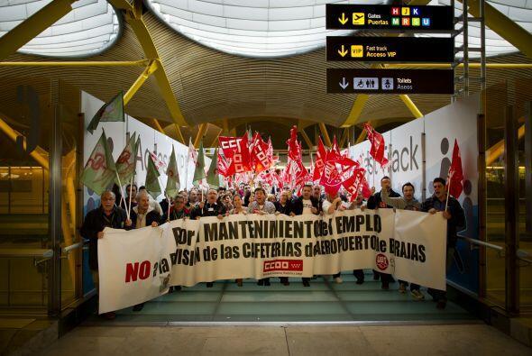 La huelga general, convocada por los principales sindicatos españoles, f...