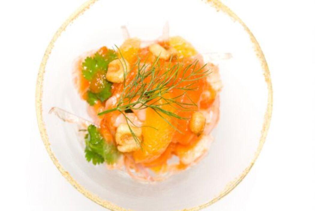 10. Cebiche picante de camarones. Calienta aceite en un sartén a fuego l...