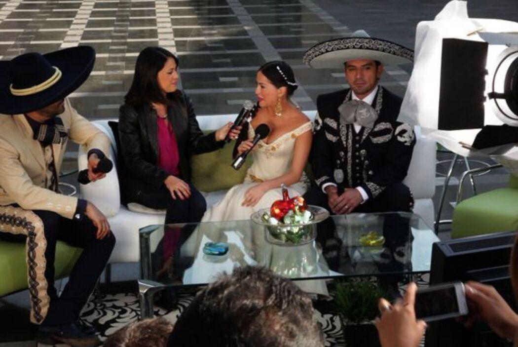 Los tres protagonistas de 'Qué bonito amor' conversaron con Karla de la...