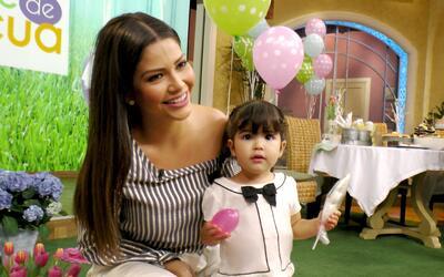 Giulietta visitó este 11 de abril a su mami Ana Patricia en Despi...
