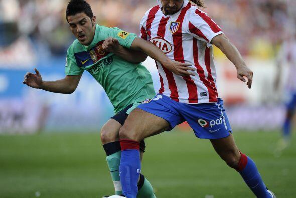 En el Estadio Vicente Calderón, Barça y 'Atleti' buscaban los tres punto...