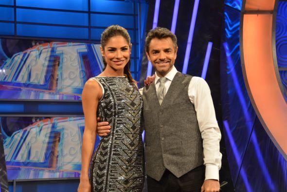 Alejandra Espinoza y Eugenio en uno de los cortes comerciales.