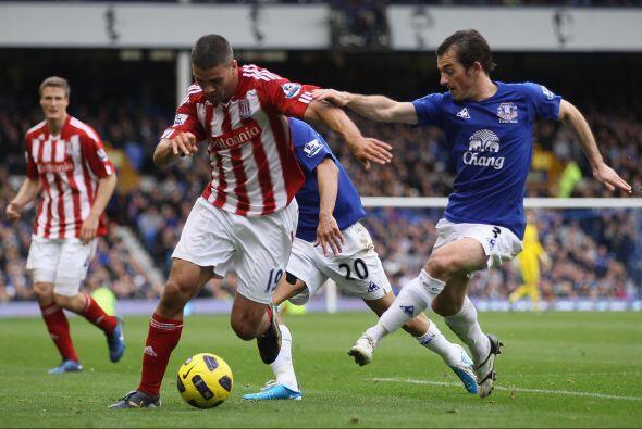 Everton se enfrentó al Stoke City y consiguió un valioso triunfo.