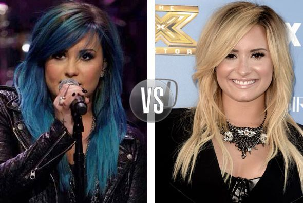 Los cambios de color se han hecho presentes y Demi Lovato hace poco apar...