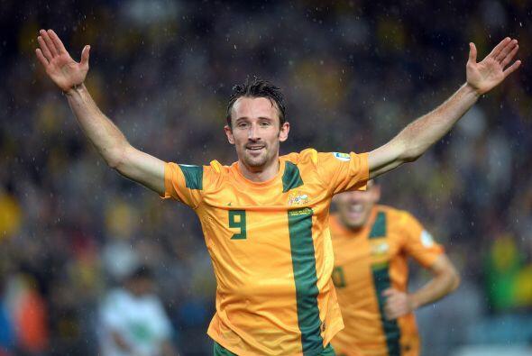 Como el actual hombre gol de los australianos está el delantero Joshua K...