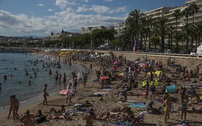 Playa en Cannes, Francia.