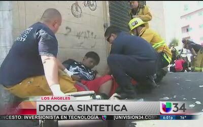 Intoxicación por droga sintética en el centro de Los Ángeles