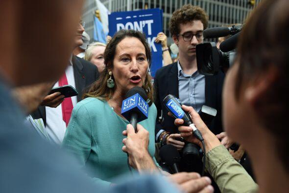 En la marcha de Nueva York participó también la ministra francesa de Med...