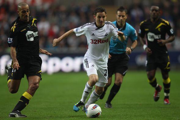 Swansea se enfrentó al Bolton y terminó festejando.