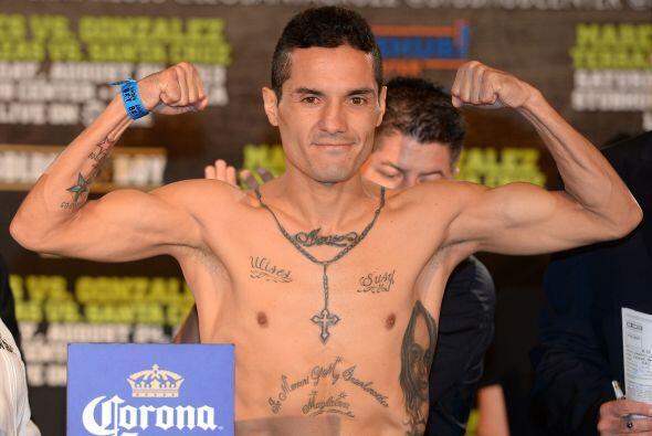 Víctor Terrazas estuvo en 121 libras, una por debajo del l&iacute...