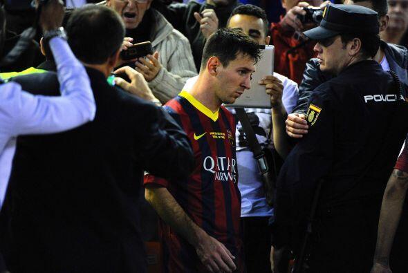 Leo Messi:  Es cierto que, desde que se lesionó el bíceps...