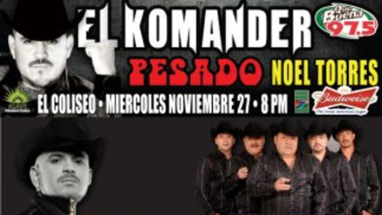 El Komander, Pesado y Noel Torres en El Paso