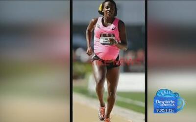 Atleta profesional, con 8 meses de embarazada compite en una carrera en...
