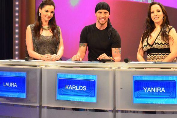 ¡Y aquí están los maestros de las concursantes! Laura, Karlos y Yanira e...