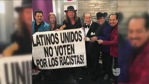 Raúl de Molina quiso tomarse una foto con el polemico cartel del Latin G...