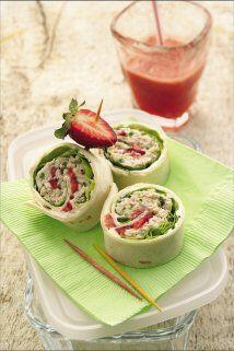 Rollos de Ensalada de Pollo: Con esta receta sorprenderás a tus i...