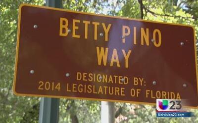 Nombran parte de la calle 8 como Betty Pino Way