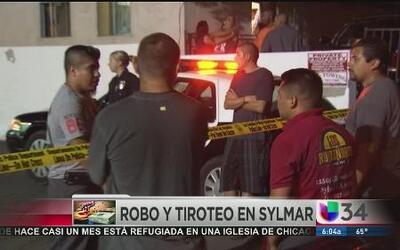 Buscan a sospechoso de robo y tiroteo en Sylmar