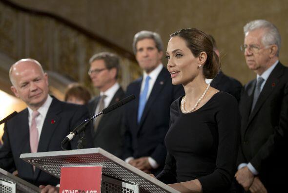 En 2013 habló sobre la violencia sexual en la cumbre del G8.
