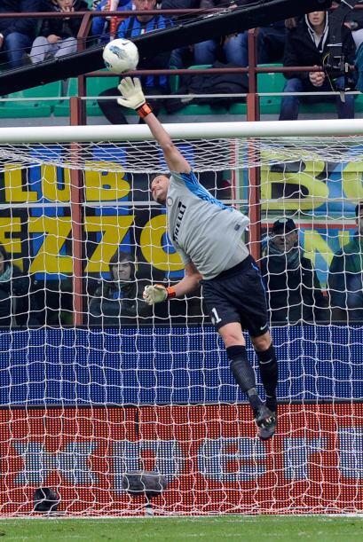El cancerbero del Inter de Milán tuvo una enorme actuación...