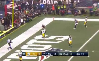 New England se va arriba 10-0 con pase de Brady a Hogan