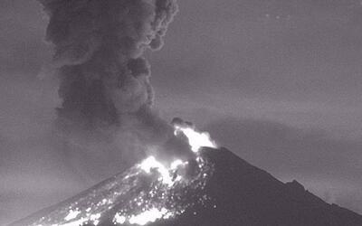 Hace explosión el volcán Popocatepetl