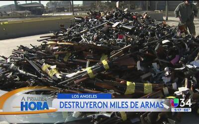 Destruyen miles de armas en Los Ángeles
