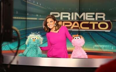 Elmo, Rosita y Lola estuvieron en nuestro programa. No se pierdan Sesam...