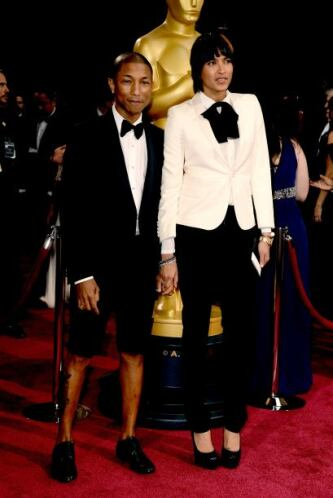 Pharrell Williams y Helen Lasichanh. Nos sorprendió que el cantante luci...