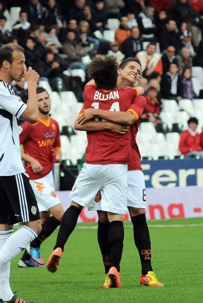 Los goles de Bojan Krkic, Erik Lamela y Daniele De Rossi le valieron el...