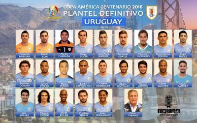 Uruguay ya tienes a sus 23 jugadores para la Copa América Centenario.