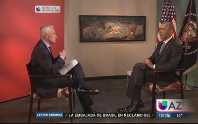 Jorge Ramos se sienta con Obama