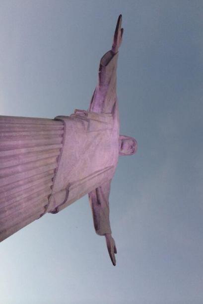 La estatua también se conoce como el Cristo de Corcovado.
