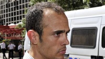 Remy di Grégorio al salir del juzgado tras ser interrogado por los magis...