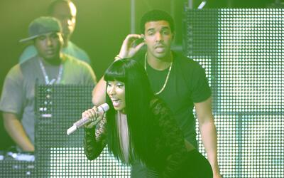 NEW YORK, NY - AUGUST 14: Nicki Minaj and Drake perform at Pepsi Present...