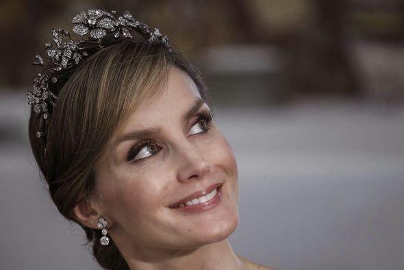 Un acercamiento de la princesa Letizia, futura reina de España.