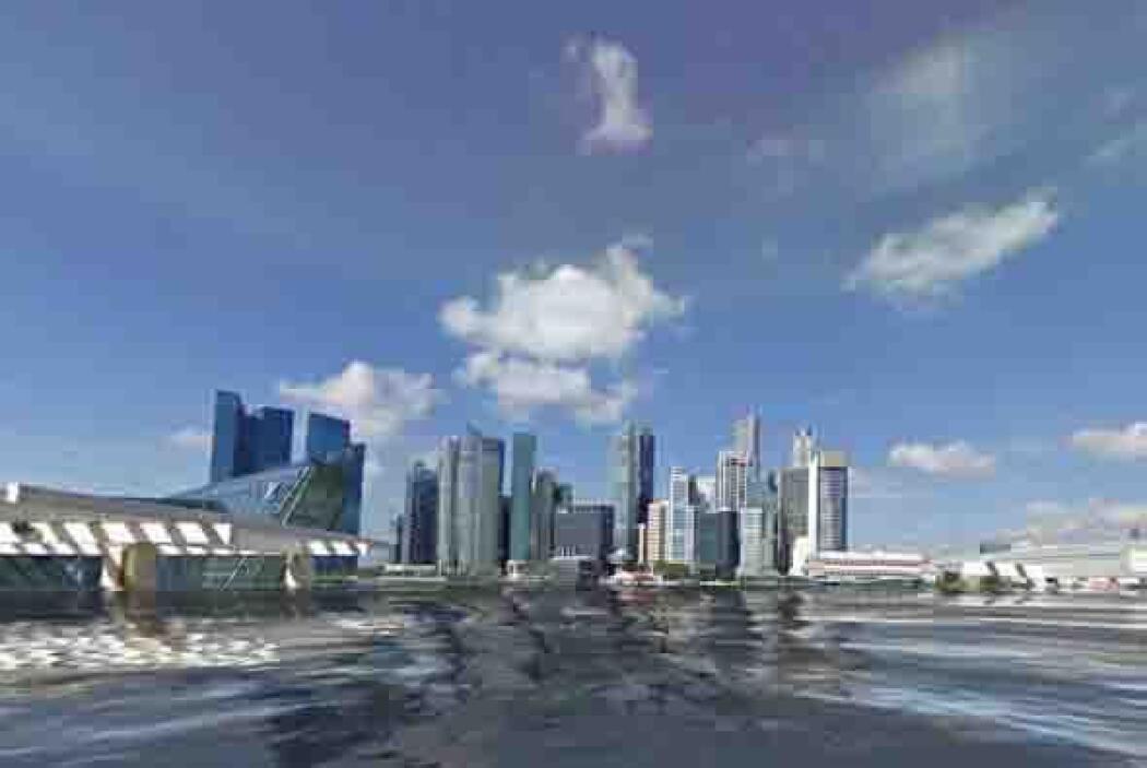 En este otro ángulo de Singapur se pueden ver los edificios rodeados de...