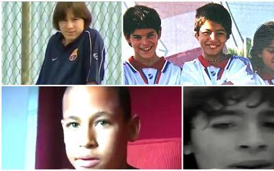 Día del Niño: así eran de pequeños Messi, Maradona, Neymar y otros crack...