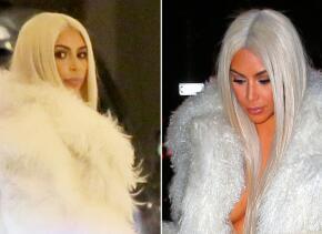 Kim volvió a cambiar de look.