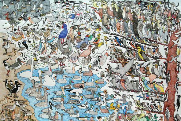 """David Barth, """"Vogels"""" (Birds) -""""Drawing Autism""""es una increíble colecc..."""