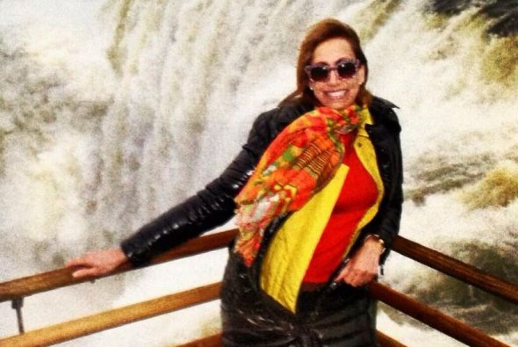 La Flaca se fue de vacaciones a Argentina.